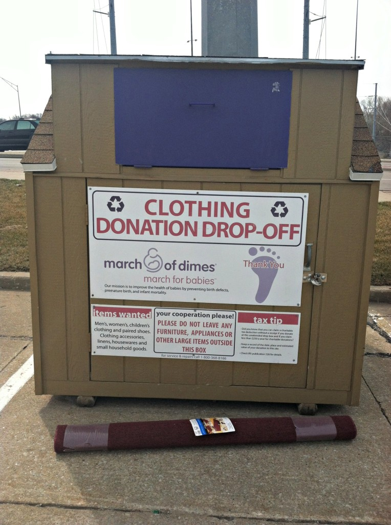 clothing drop off