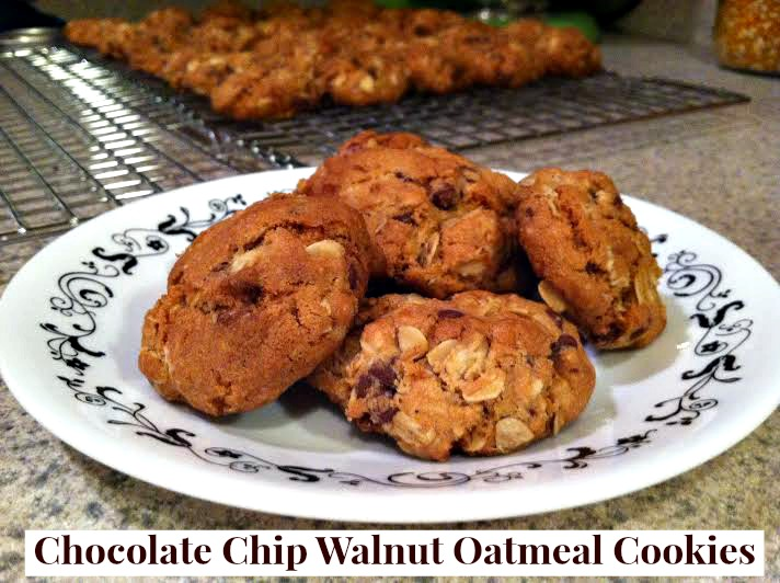 Chocolate Chip, Walnut, Oatmeal Cookies