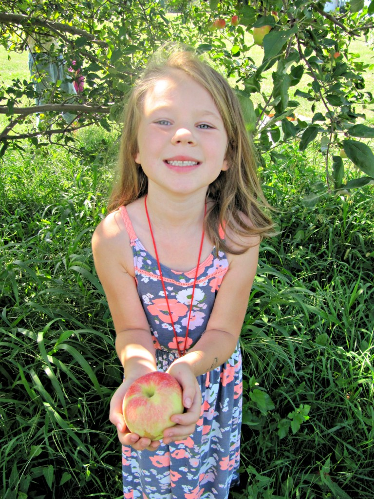 Charlie with her apple