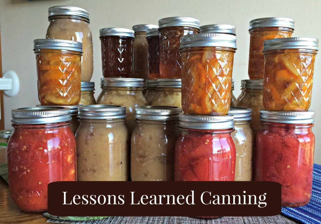 Lessons Learned Canning