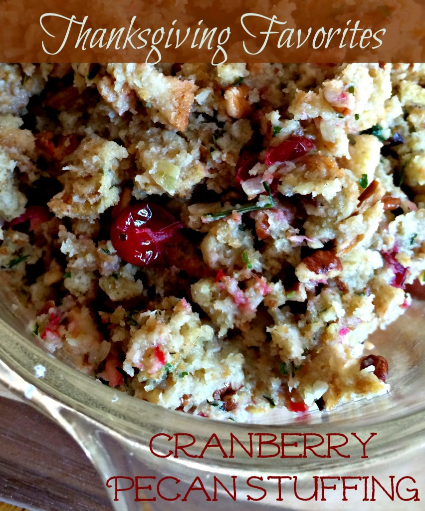 Thanksgiving Favorites Cranberry Pecan Stuffing
