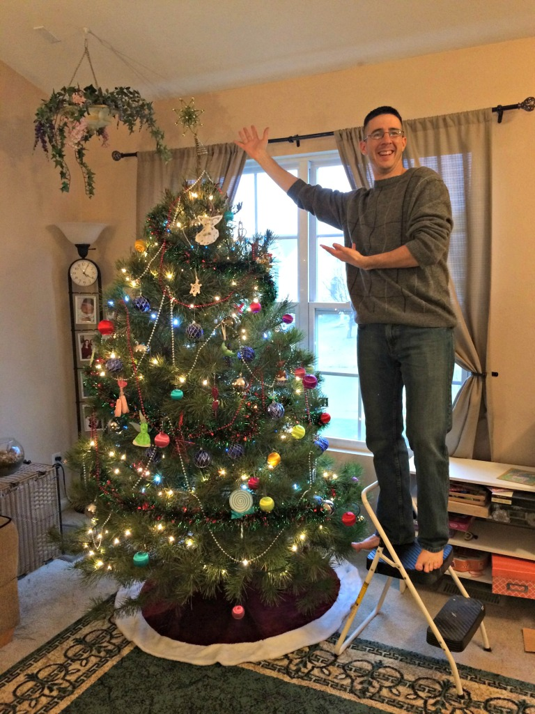 Adding the tree topper