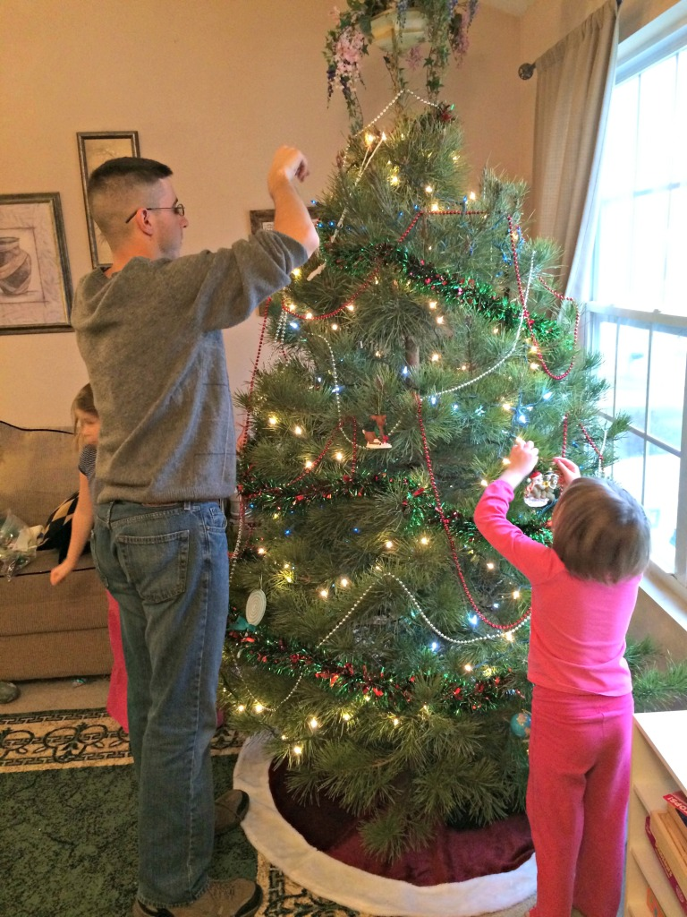 hanging the ornaments