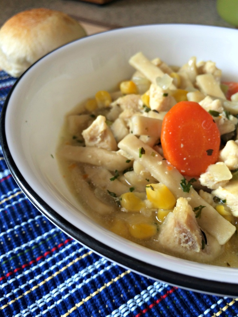 This is my favorite homemade chicken noodle soup recipe! It's full of flavor and perfectly comforting for a chilly night, or even when you're not feeling well.