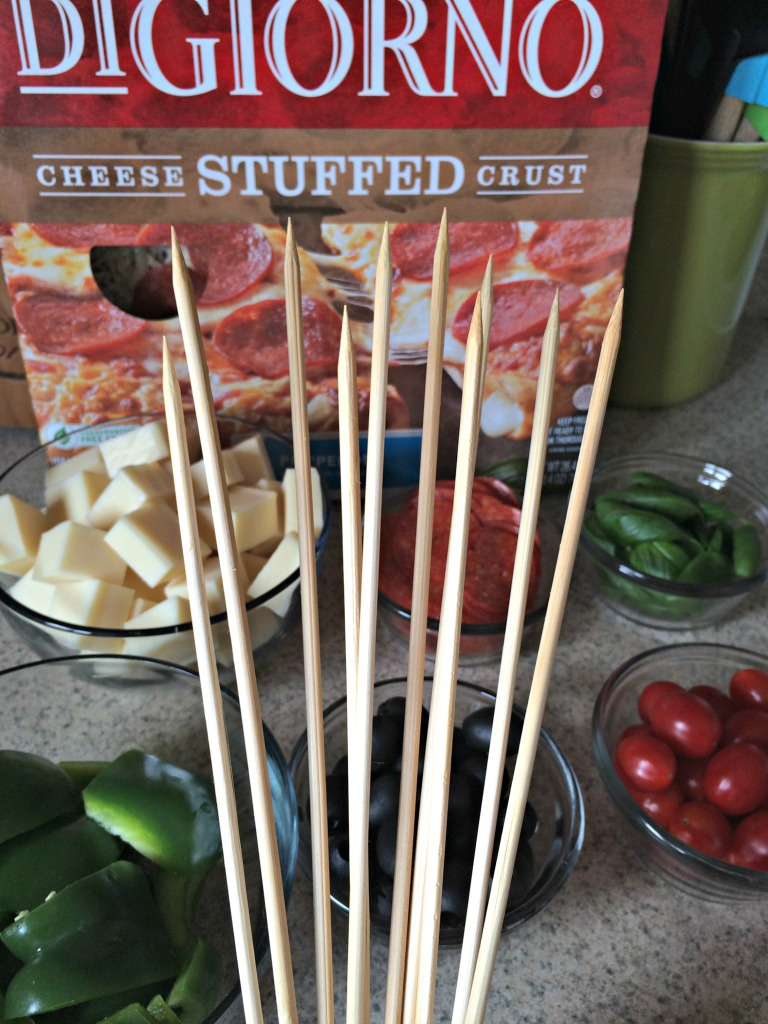 Skewers for Pepperoni Pizza Kabobs