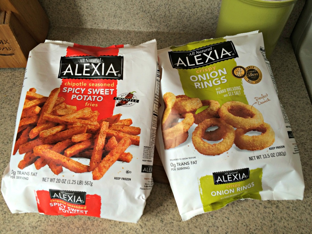 Alexia Spicy Sweet Potato fries and Crispy Onion Rings