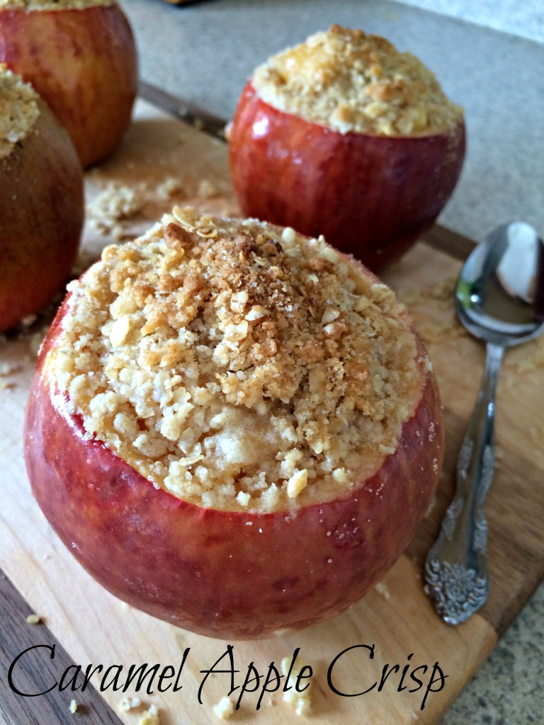 Caramel Apple Crisp Stuffed Apples #ad #WarmthInACrust
