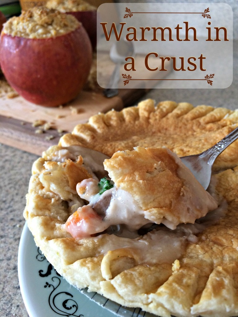 Warmth in a Crust. Marie Callender's pot pies and Caramel Apple Crisp Stuffed Apples #ad #WarmthInACrust