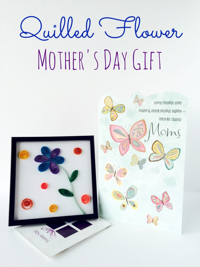 Framed Quilled Flower Mother's Day Gift #ad #BestMomsDayEver