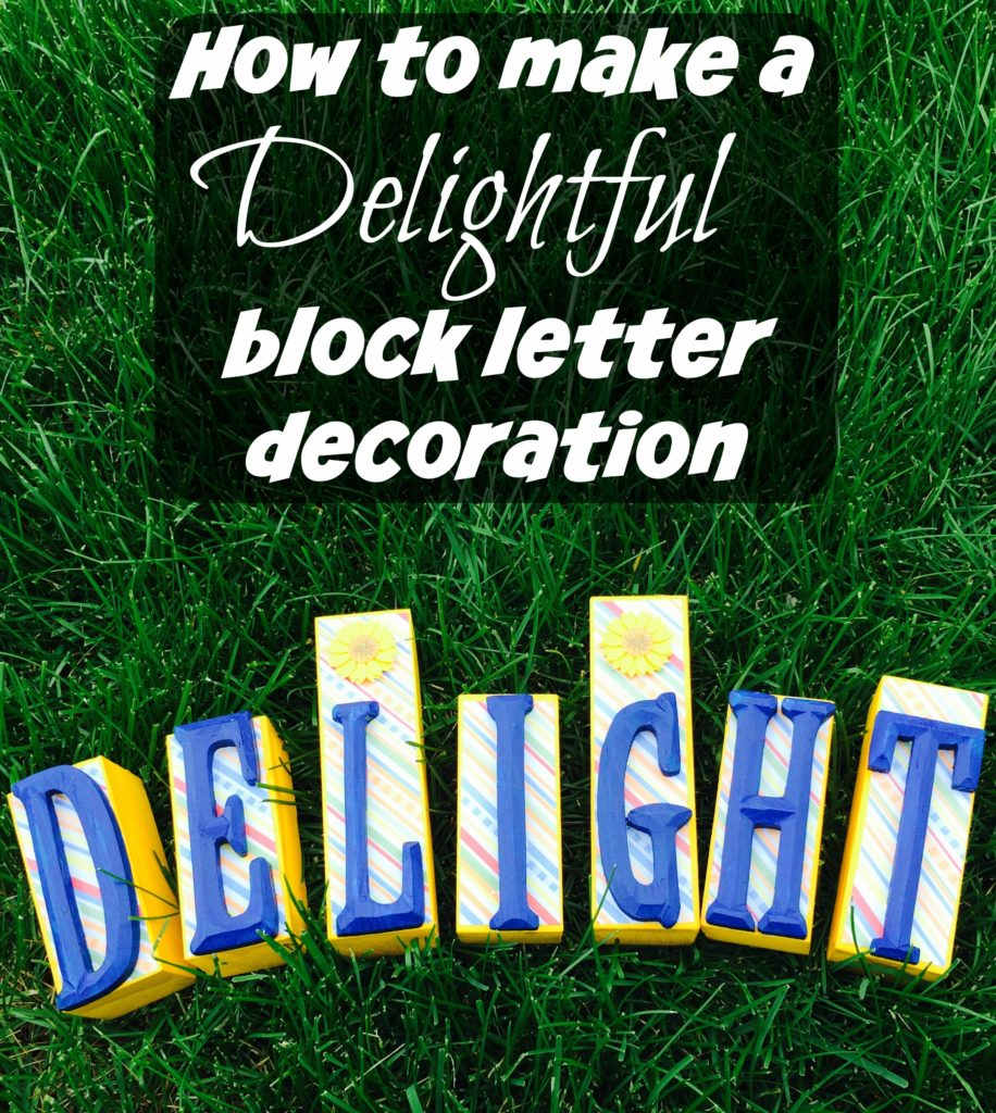 How to Make a Delightful Block Letter Decoration #ad #WhereFunBegins