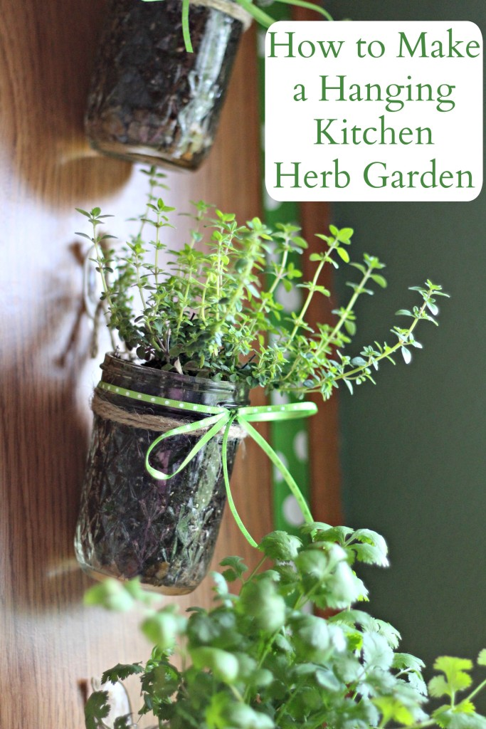 How to Make a Hanging Kitchen Herb Garden with Command™ Hooks #ProjectAmazing #Ad