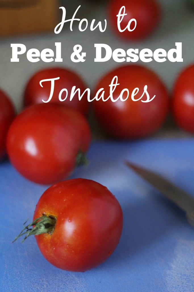 Whether you're canning tomatoes or creating homemade spaghetti sauce you'll want to know how to peel and deseed tomatoes. This photo tutorial will show you step by step what you need to know.