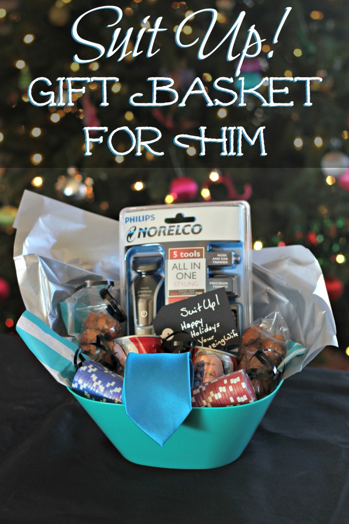 Help someone special Suit Up! with this fun themed gift basket. It's going to be Legendary. #GiftOfPhilips #ad