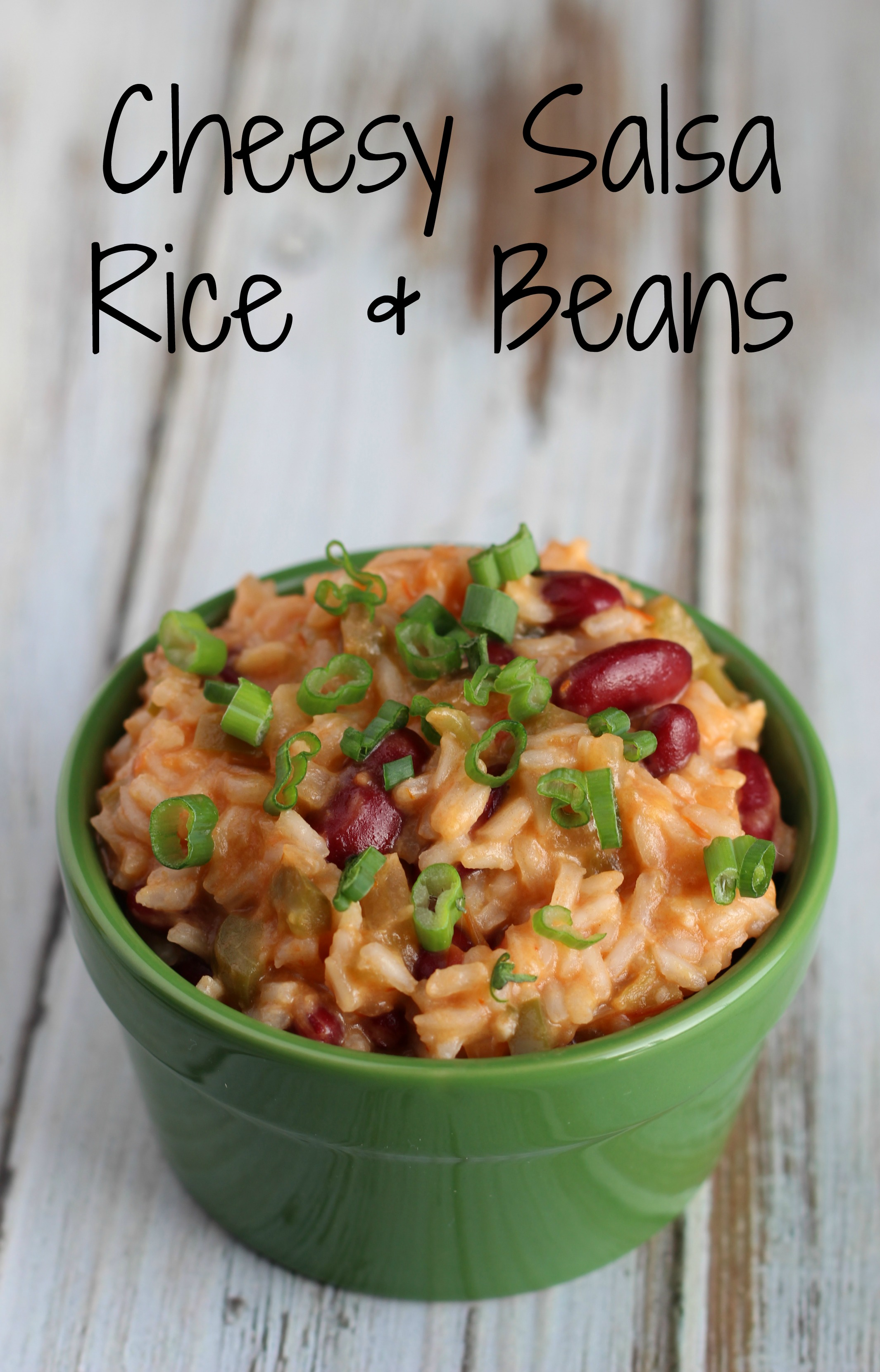 Cheesy Salsa Rice and Beans