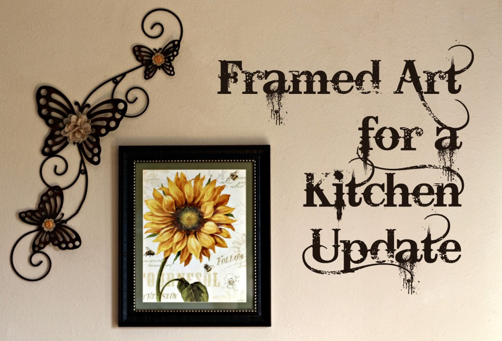 Framed Art for a Kitchen Update. ad